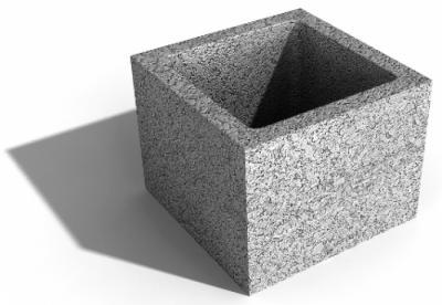 Zsalukő pillérzsalu 25x25x23